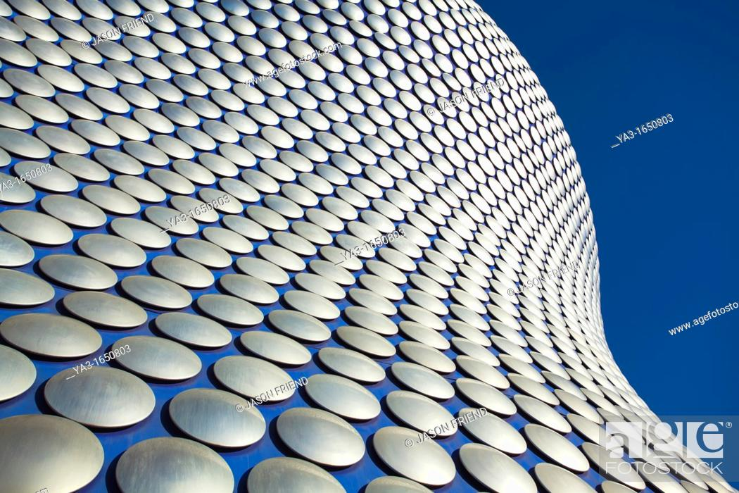 Stock Photo: England, West Midlands, Birmingham  Abstract shapes of the modern Selfridges building, part of the Bull Ring shopping centre in Birmingham.