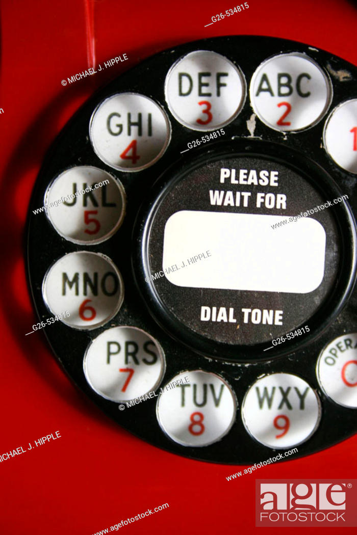Stock Photo: Old telephone dial.