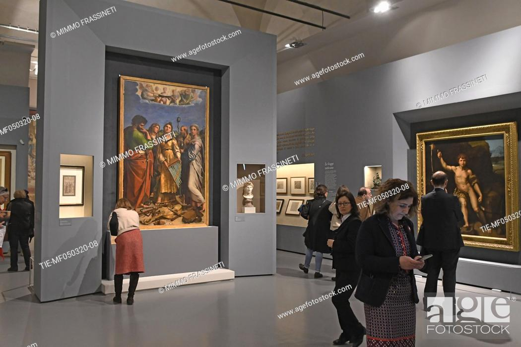 Stock Photo: Exhibition 'Raffaello. 1520 - 1483' at the Scuderie del Quirinale in Rome, ITALY-04-03-2020.