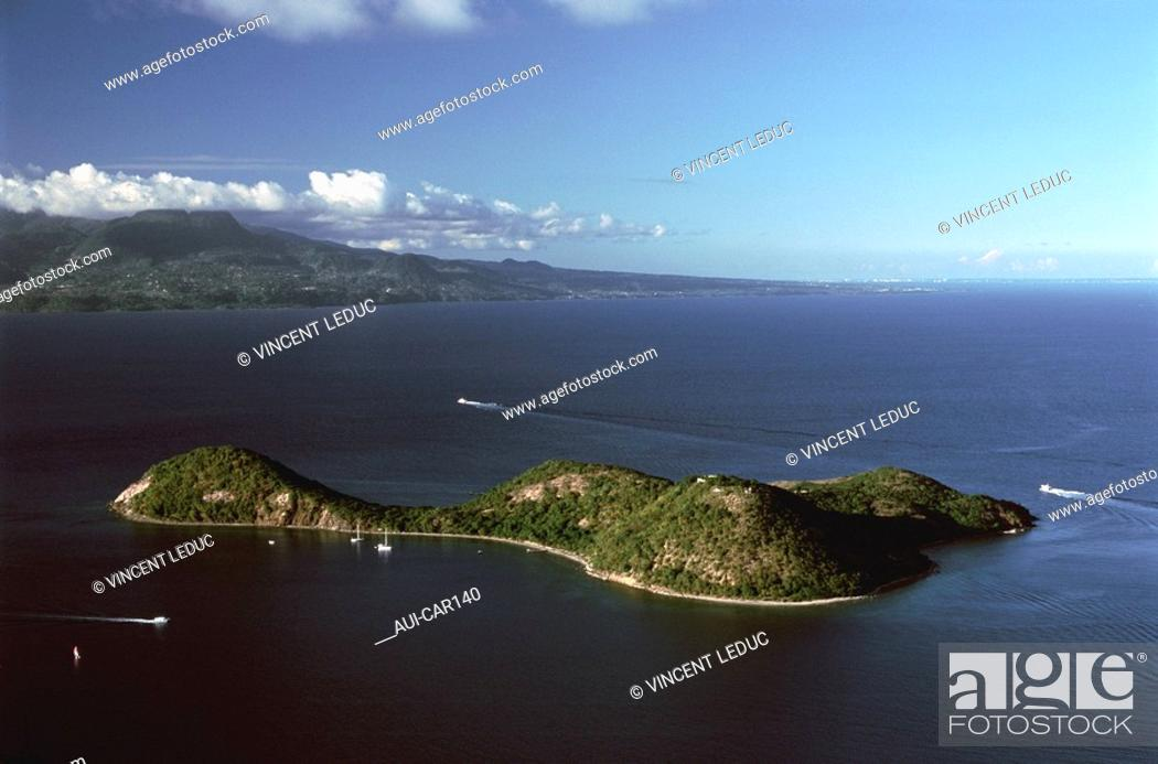 Stock Photo: French Caribbean - Caribbean Islands - Les Saintes - Islet to Cabrit.