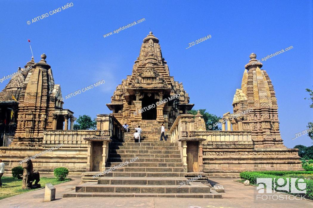 Photo de stock: Varaha temple, X-XI centuries, Khajuraho Group of Monuments, UNESCO World Heritage Site, Madhya Pradesh, India, Asia.
