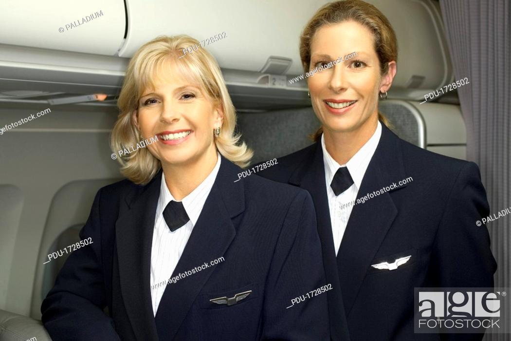 Stock Photo: Flight attendants in uniform.