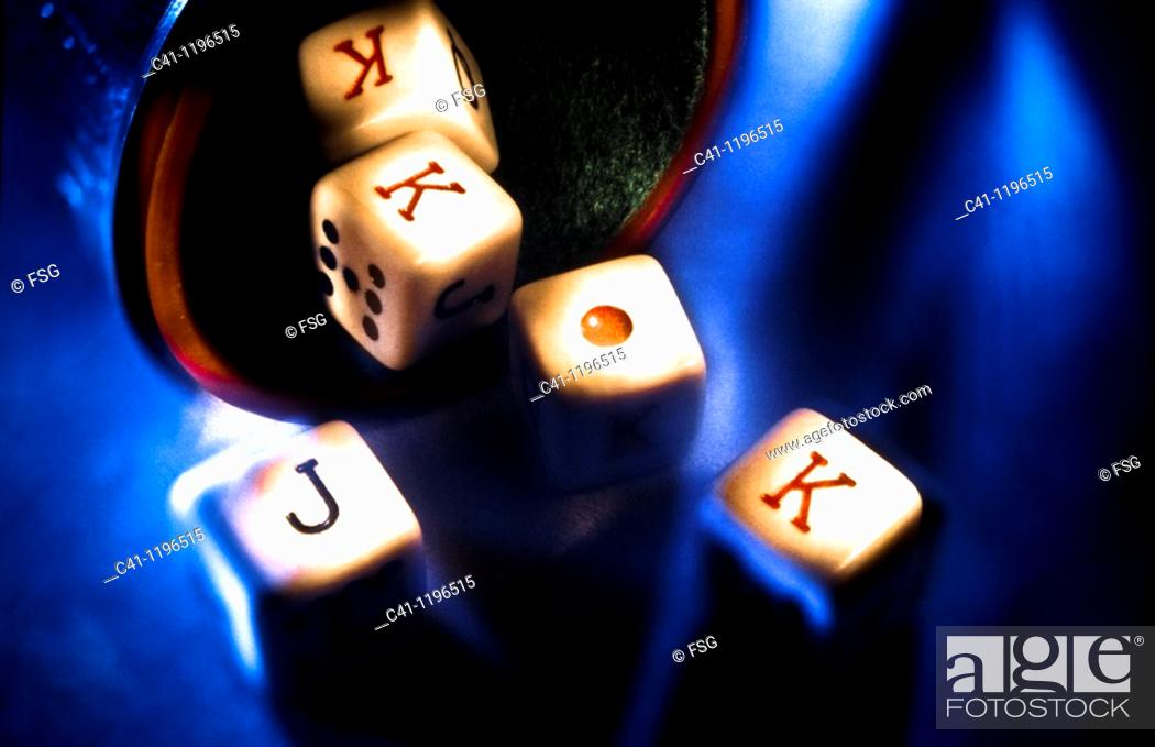Stock Photo: dice game.