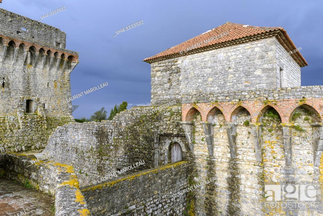 Stock Photo: Castle of Ourem, Santarem District, Centro Region, Portugal, Europe.