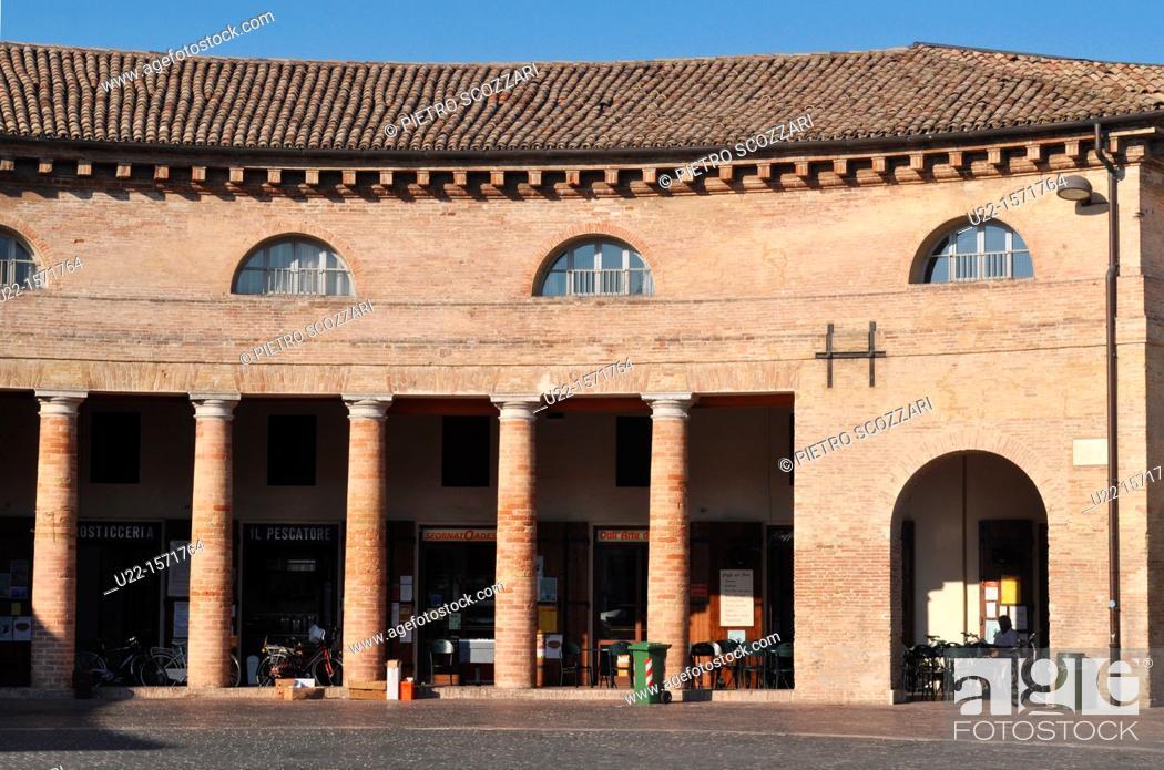 Stock Photo: Senigallia (Ancona, Italy): the Foro Annonario.