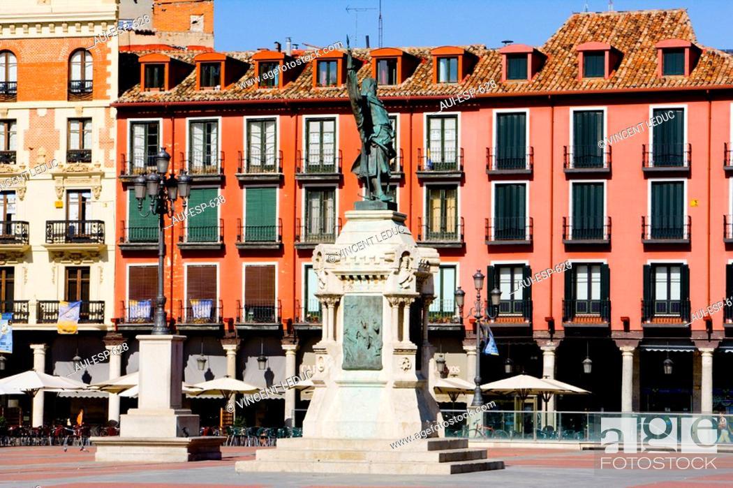 Stock Photo: Spain - Castile and Leon - Valladolid - Plaza Mayor.