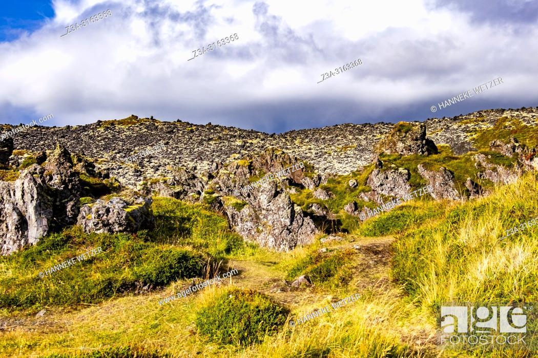 Imagen: Lava fields of Snæfellsnes in West-Iceland.