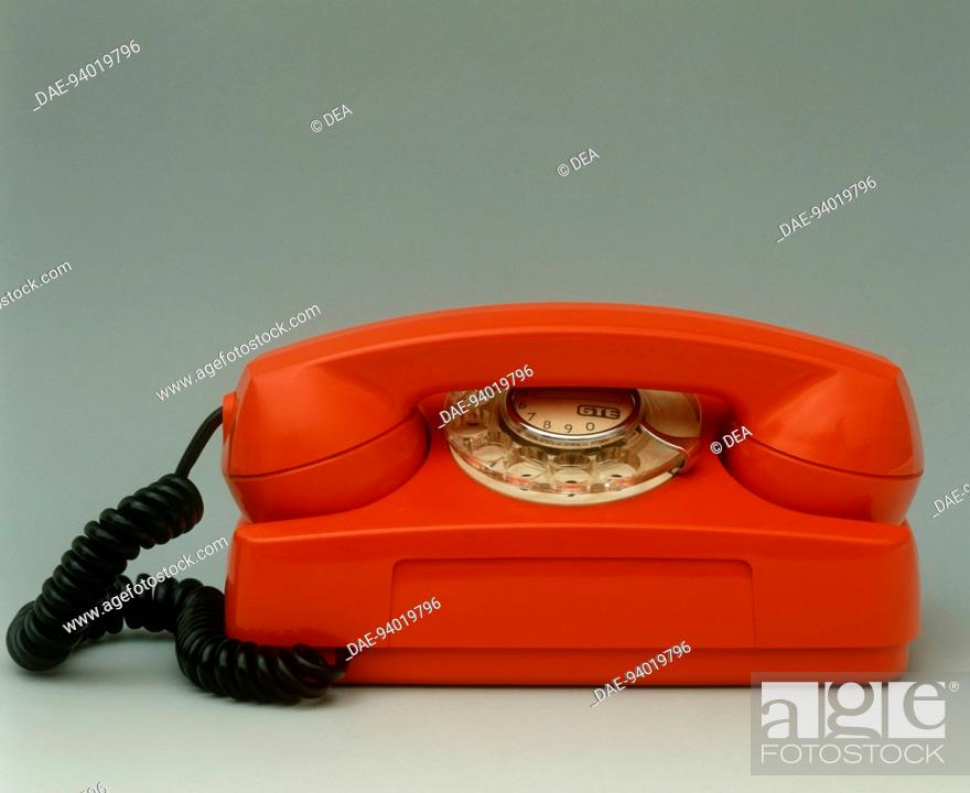 Stock Photo: Italy, 20th century - Starlite GTE telephone, 1960's.  Private Collection.