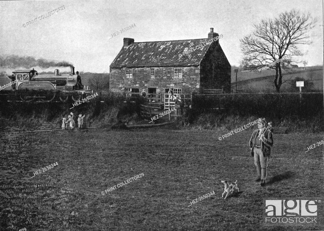 Stock Photo: George Stephenson's Birthplace, Wylam, c1900. Artist: GW Wilson and Company.