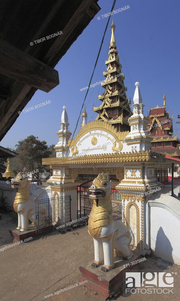 Imagen: Myanmar, Mon State, Kawhnat-Kadoe, Hna Kyeik Shit Su Wut, buddhist shrine, .