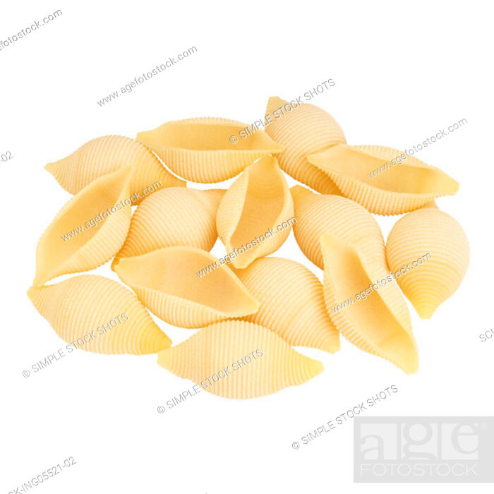 Stock Photo: pasta shells.