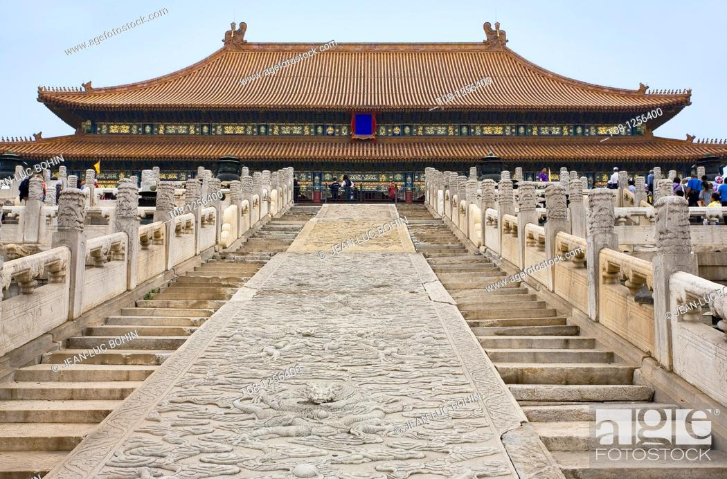 Stock Photo: hina, Beijing Forbidden City.