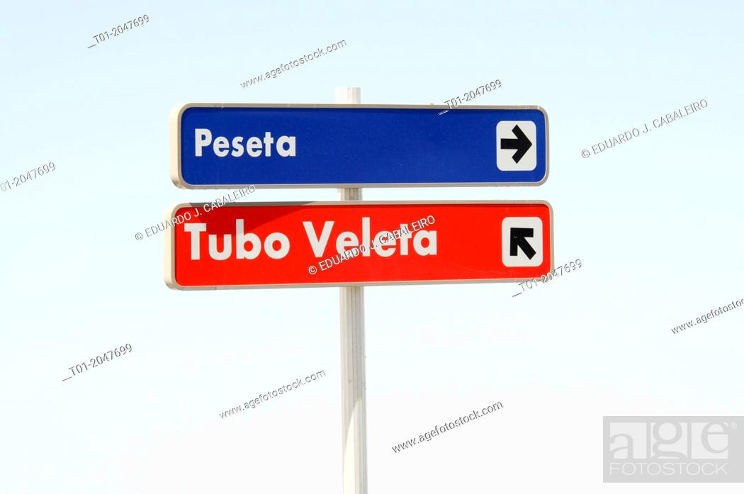 Stock Photo: Signs, Sierra Nevada. Granada, Andalusia, Spain.