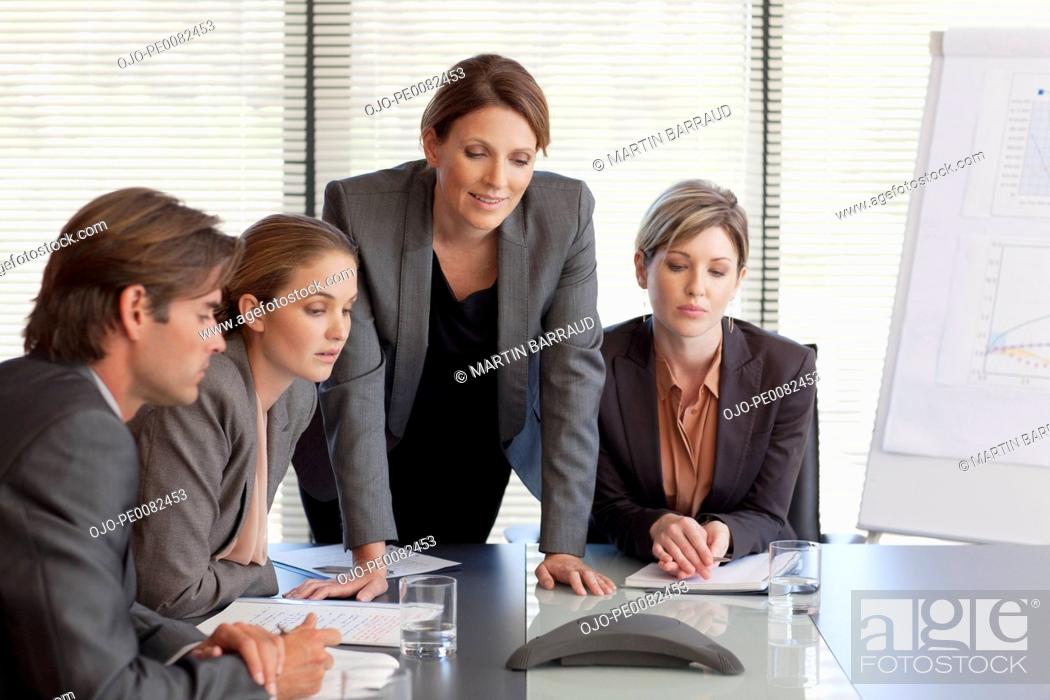 Stock Photo: Business people on conference call.