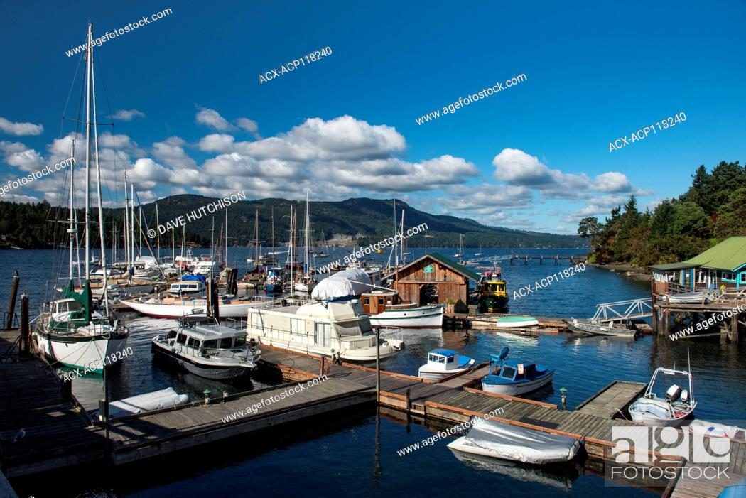 Stock Photo: Brentwood Bay, Vancouver Island, BC, Canada.