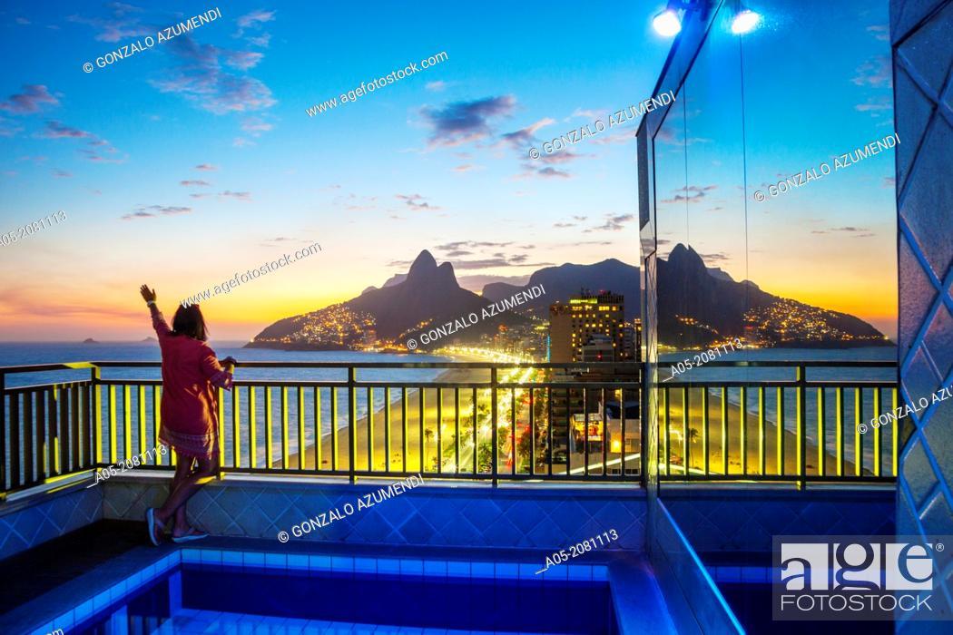 Stock Photo: Ipanema and Leblon Beaches, Rio de Janeiro, Brazil.
