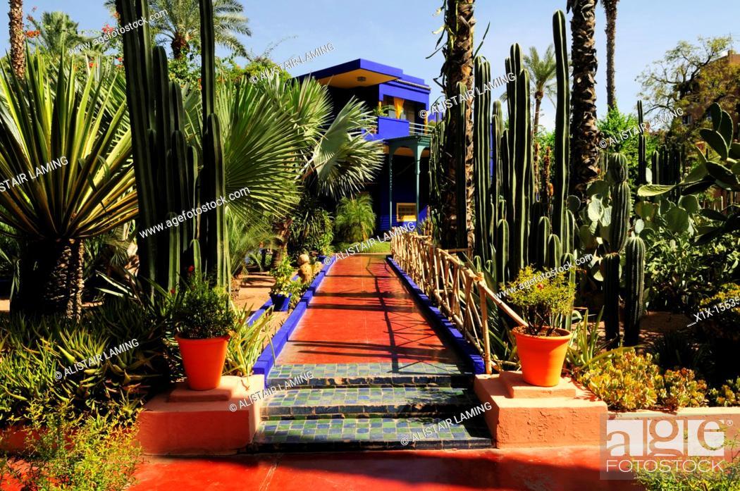 stock photo jardin majorelle marrakech morocco - Jardin Marrakech