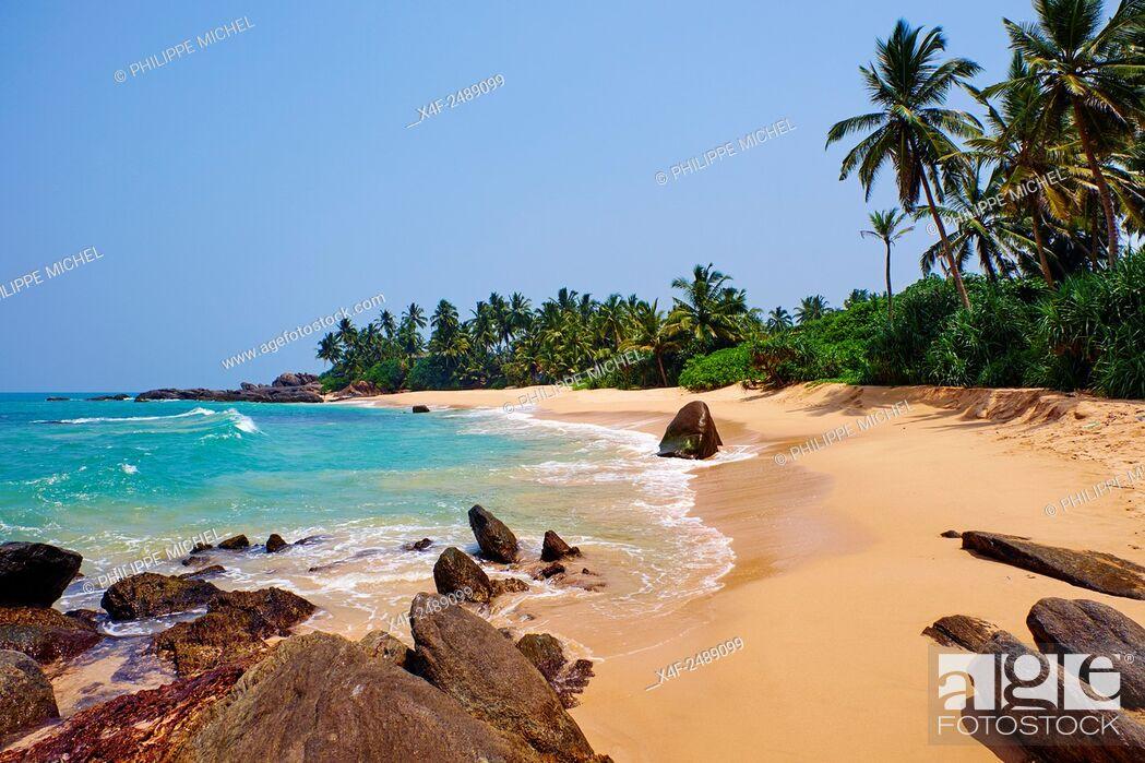Stock Photo: Sri Lanka, South West Coast, Ambalangoda, beach.