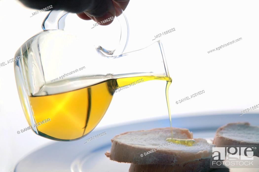 Stock Photo: Pure olive oil.