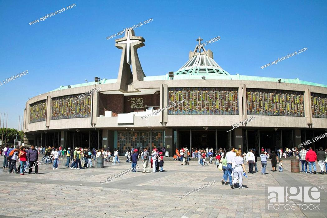 Stock Photo: Basilica de Nuestra Senora de Guadalupe, Our Lady of Guadalupe, Mexico City, Mexico.