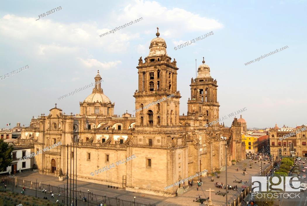 Stock Photo: Cathedral in Mexico City, Mexico.