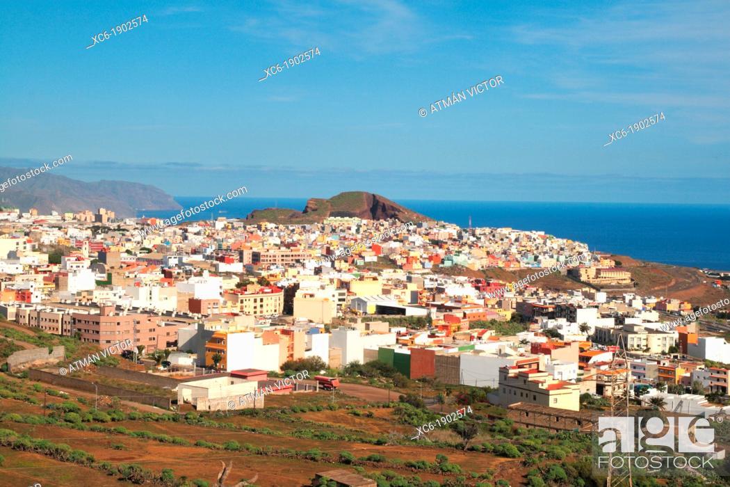 Stock Photo: panoramic view of Santa Cruz de Tenerife. Canary Islands, Spain.