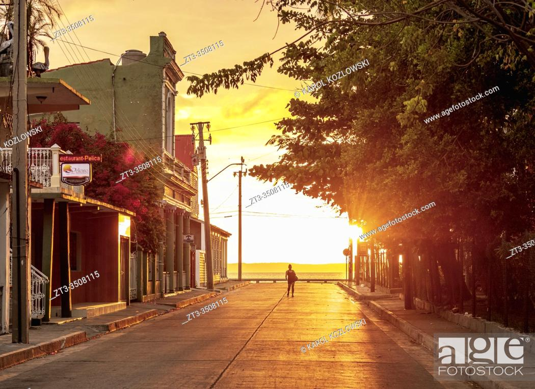 Stock Photo: Sunset at La Punta, Cienfuegos, Cienfuegos Province, Cuba.