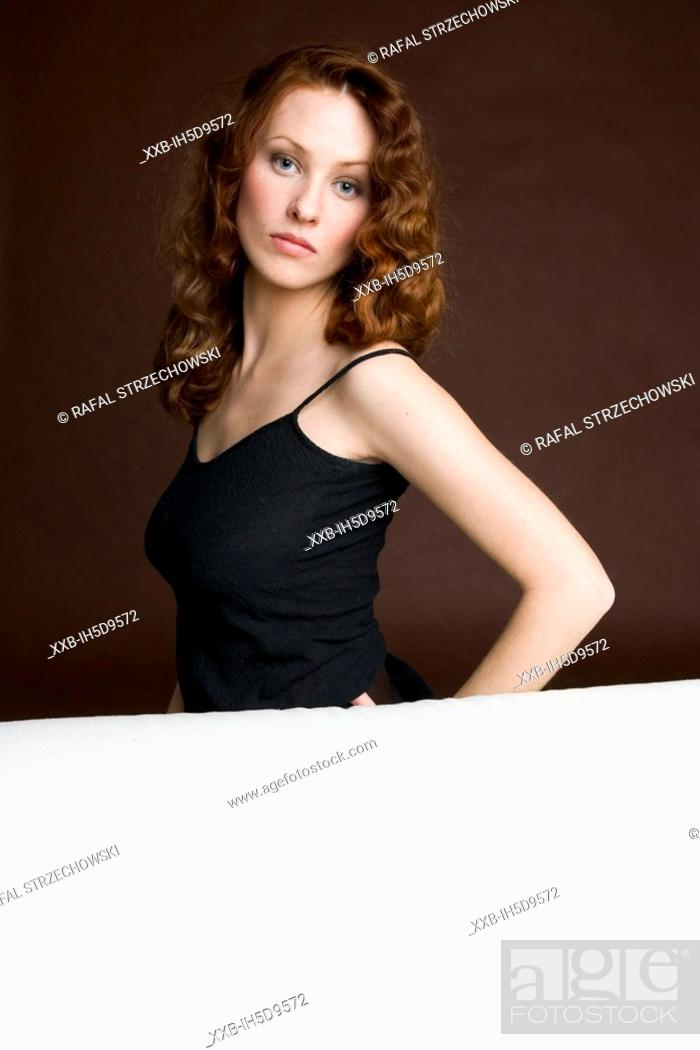 Stock Photo: beauty readhead woman.