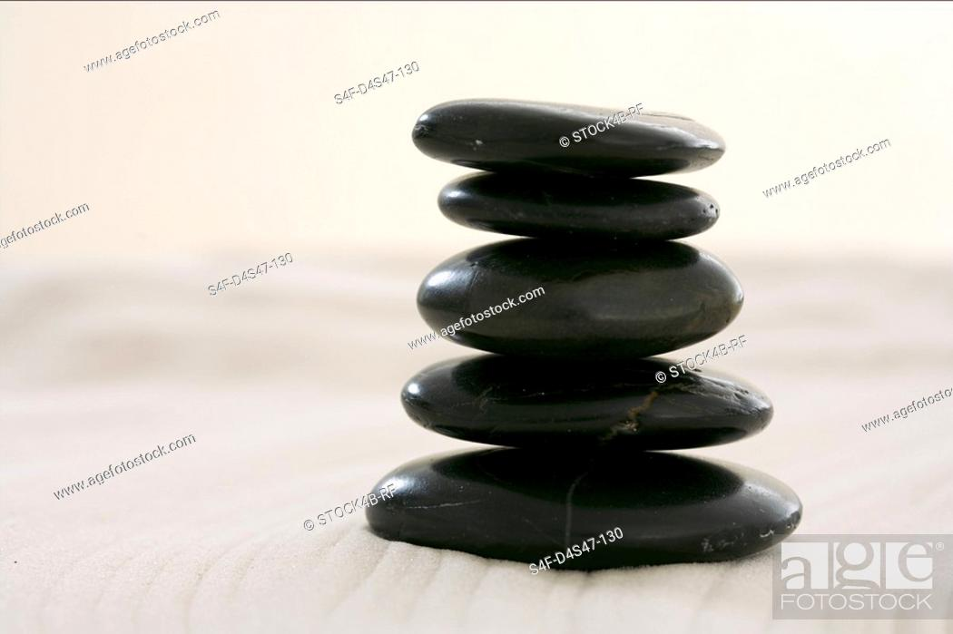 Stock Photo: A stack of stones.
