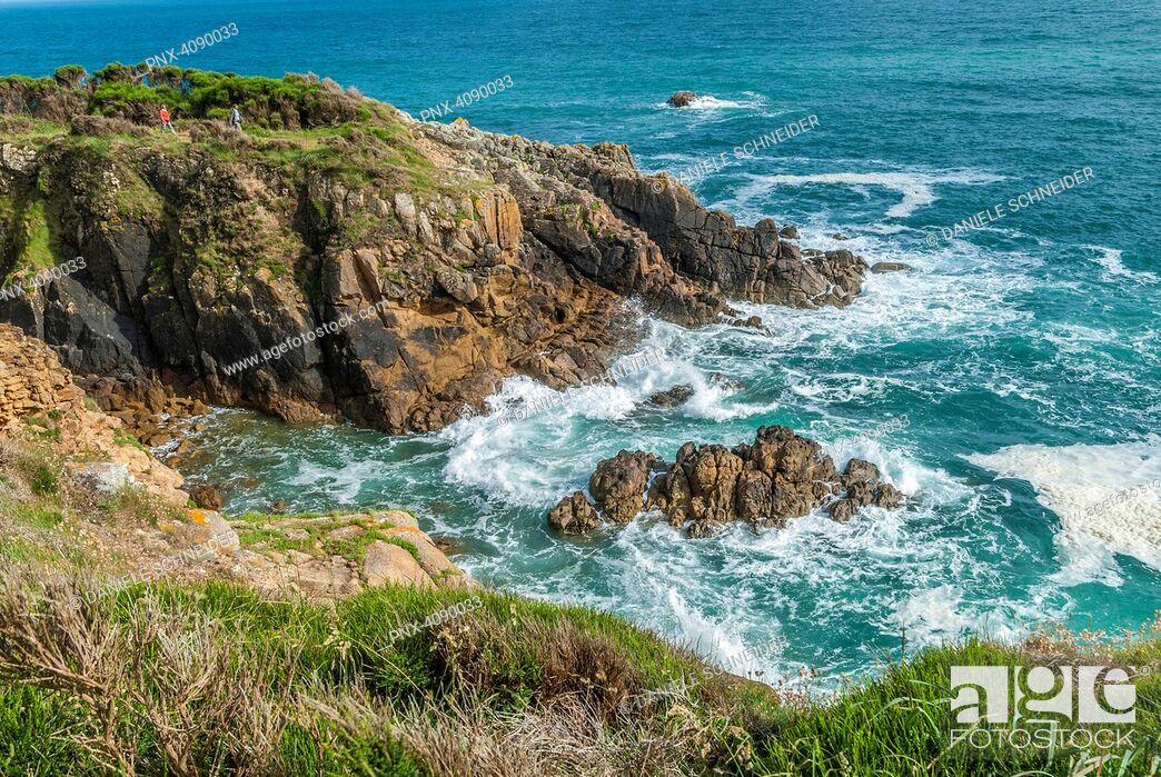 Imagen: France, Brittany, Riec sur Betton, Pointe de Kherhermen.