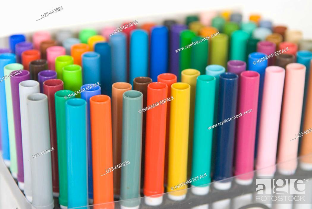 Stock Photo: Color pens.