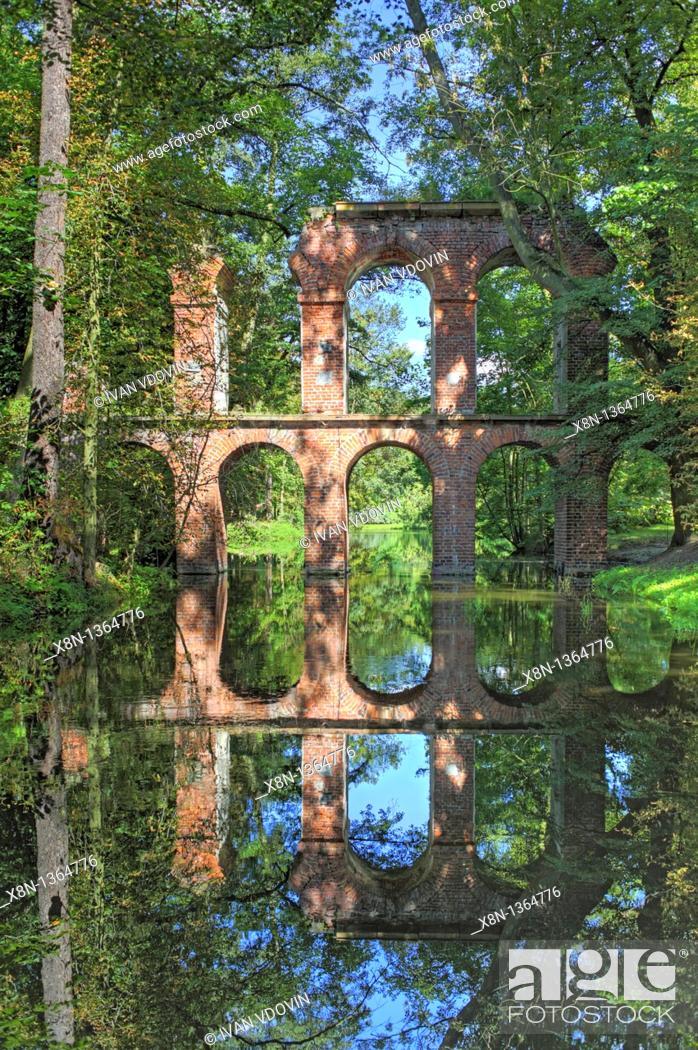 Stock Photo: Arkadia park, Lowicz county, Lodz Voivodeship, Poland.