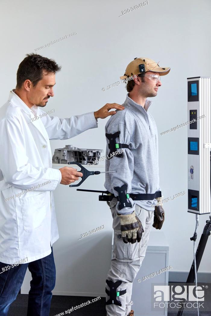 Stock Photo: EXODYN project, Exoskeletons for the prevention of musculoskeletal ailments in work environments, Unit of Health, Technology Centre.