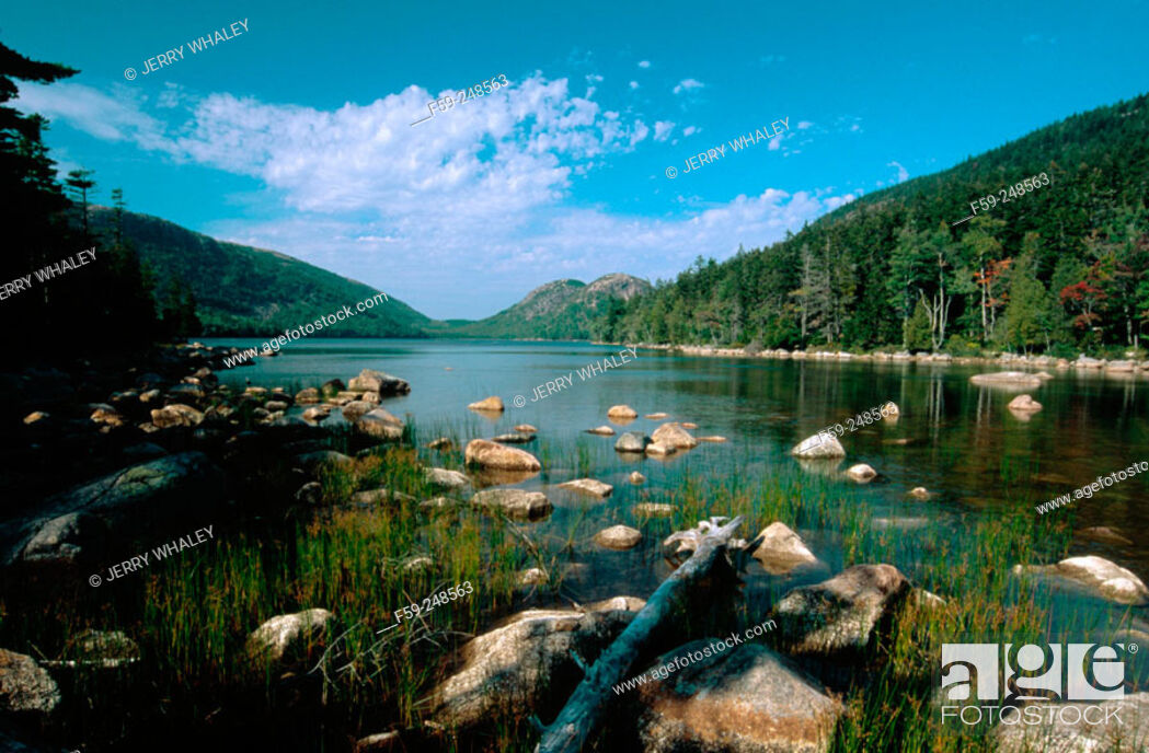 Stock Photo: Jordon Pond in Acadia National Park. Maine. USA.