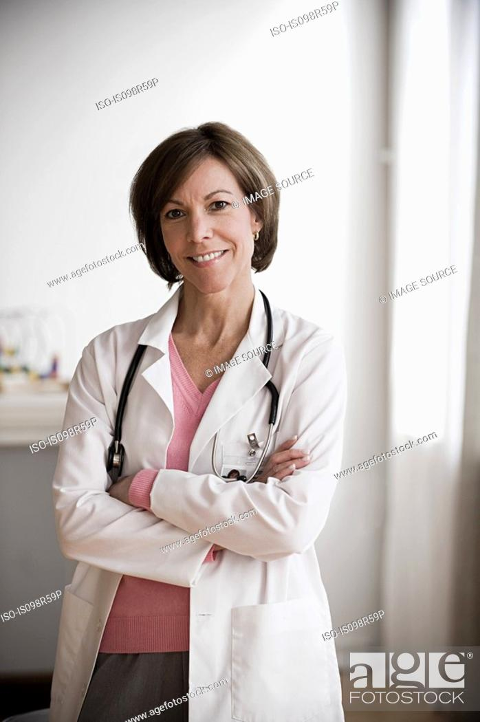 Stock Photo: Portrait of a doctor.