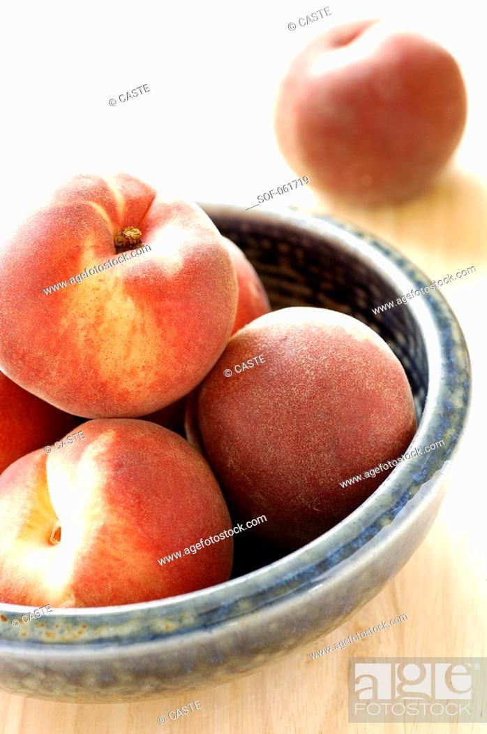 Stock Photo: white peaches.