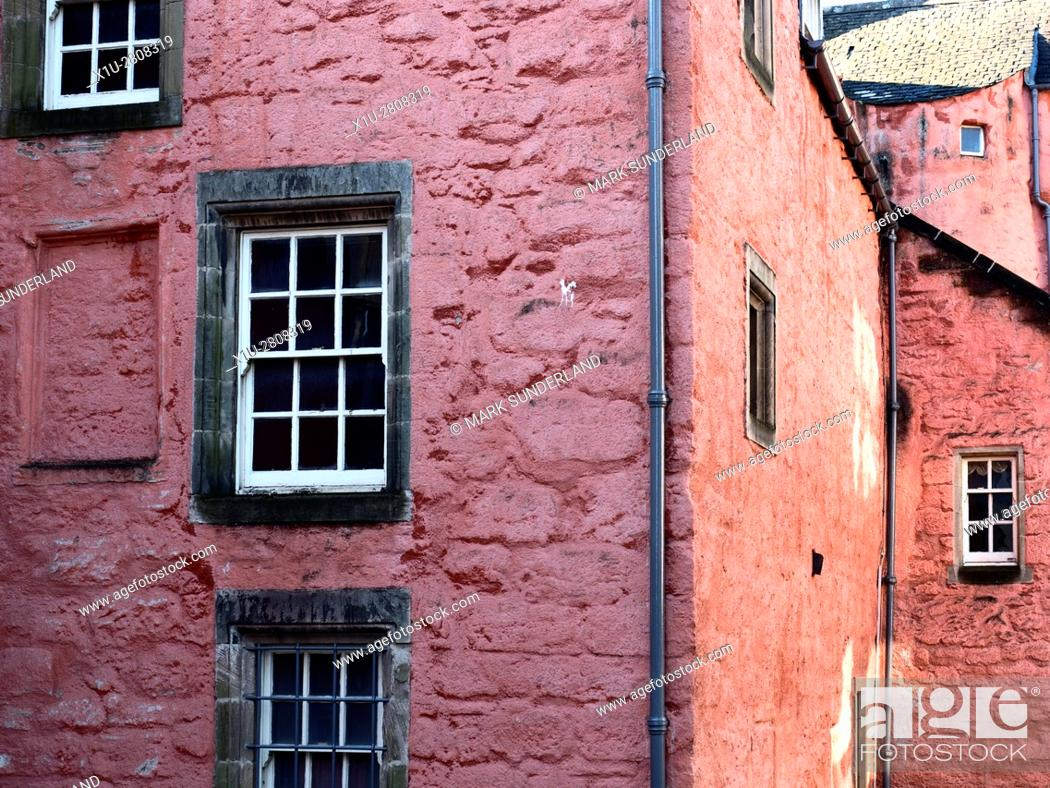 Stock Photo: Architecture Detail at the Abbot House in Dunfermline Fife Scotland.