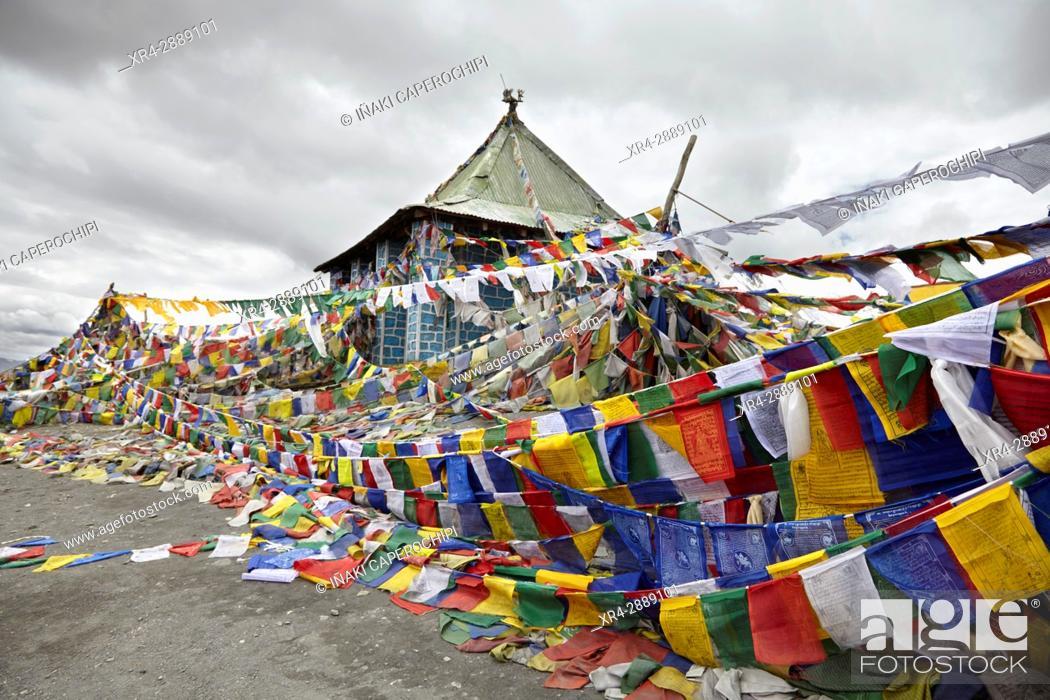 Stock Photo: Taglanga Pass, Manali - Leh Highway, Ladakh, India.