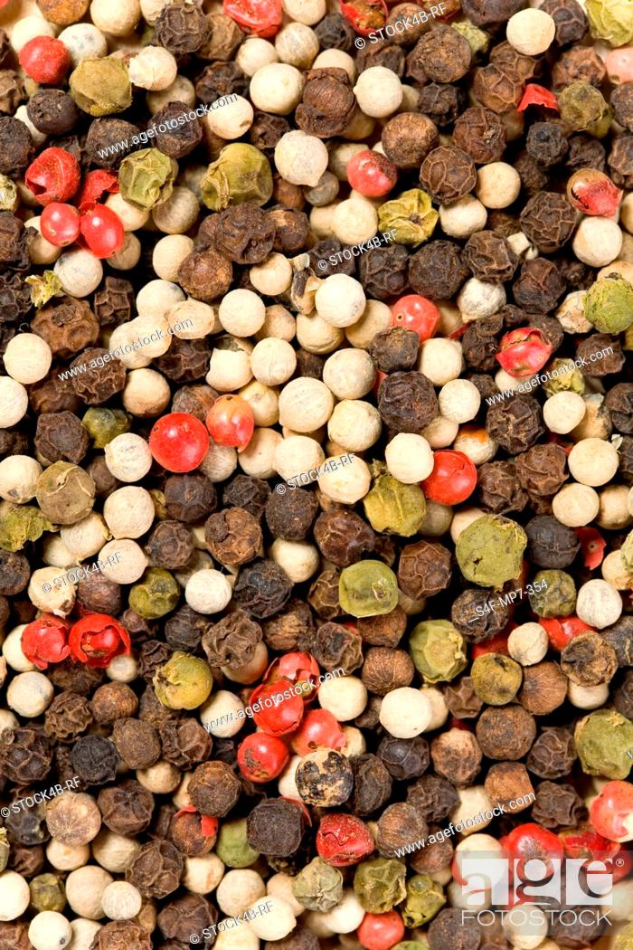Stock Photo: Detail of mixed pepper.