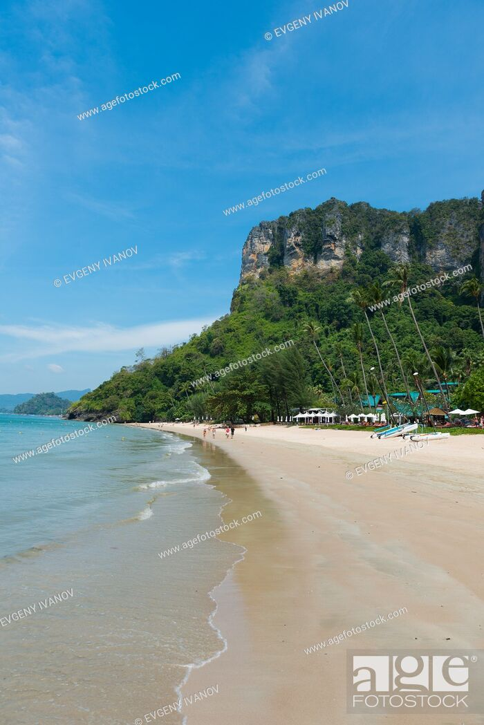 Stock Photo: Empty Centara Grand beach near Ao Nang, Krabi province, Thailand.