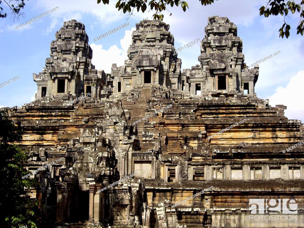 Stock Photo: Angkor Ta Kheo Temple general view, Cambodia.
