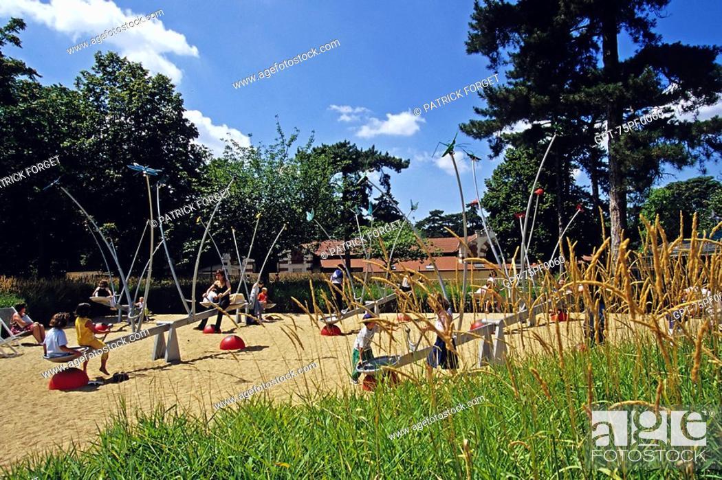 Amusement Park In The Jardin D Acclimatation Paris 75 France