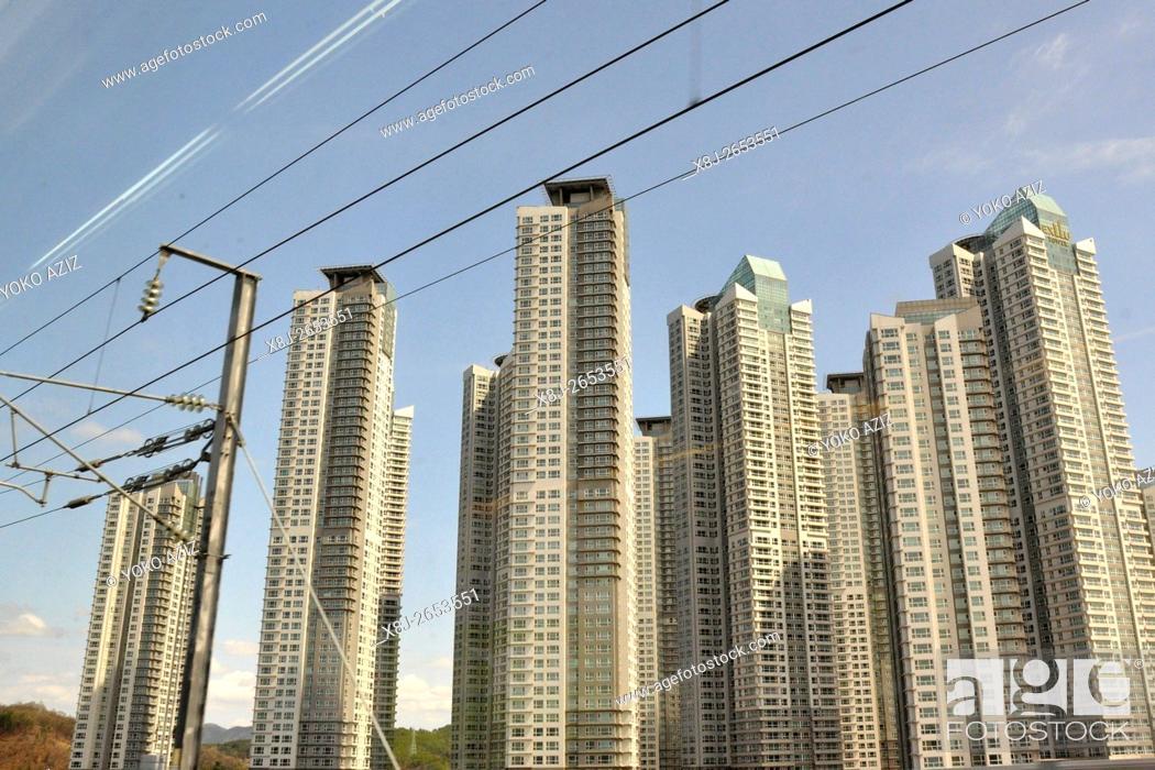 Stock Photo: South Korea, Seoul, new town.