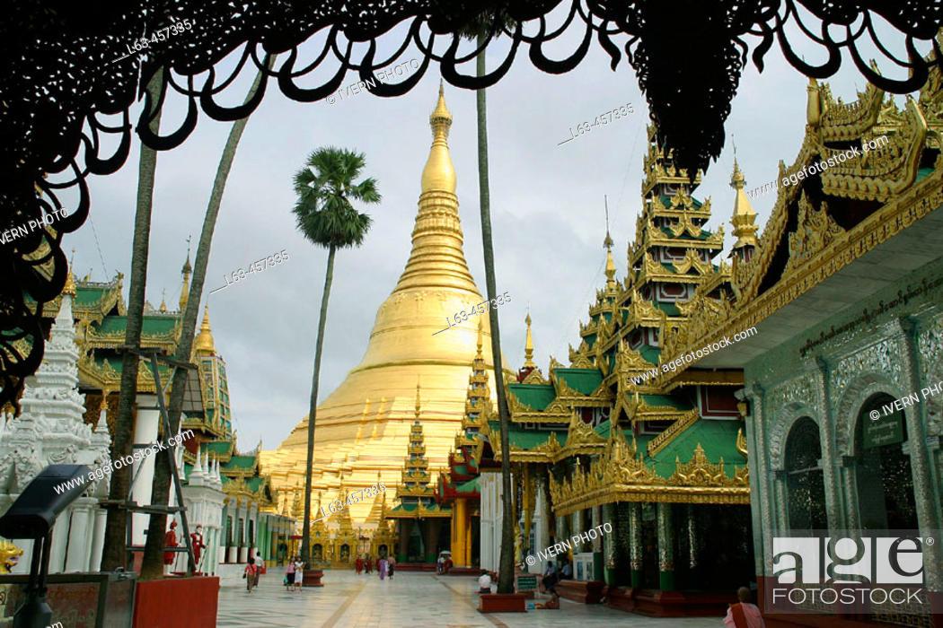 Stock Photo: Shwedagon Pagoda. Yangon. Myanmar (Burma).