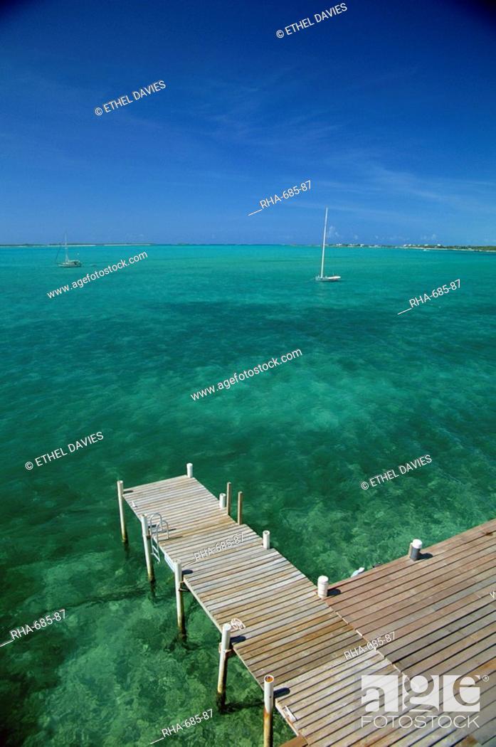 Near Georgetown, Exuma, Bahamas, Central America, Stock