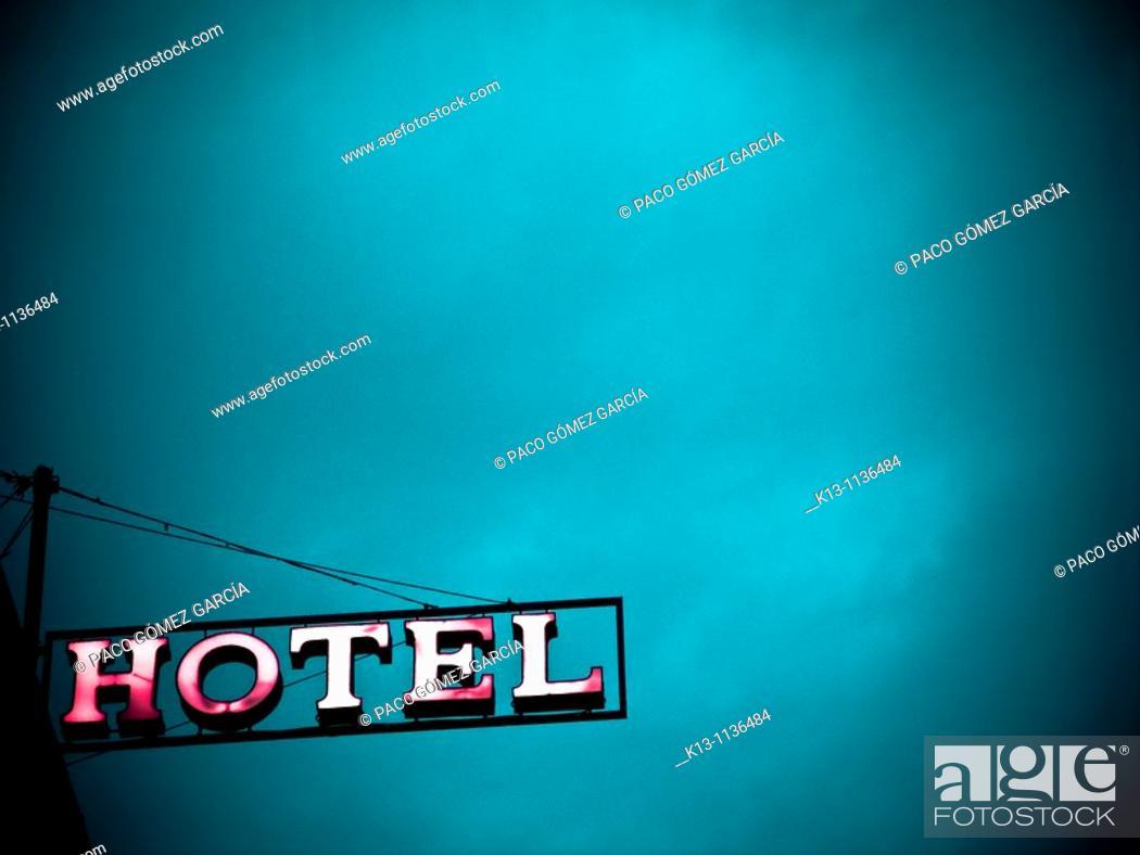 Stock Photo: Hotel sign in Venice, Italy.