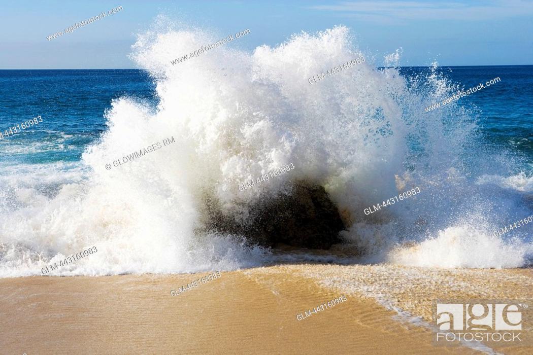 Waves Crashing On The Beach Santa Fe