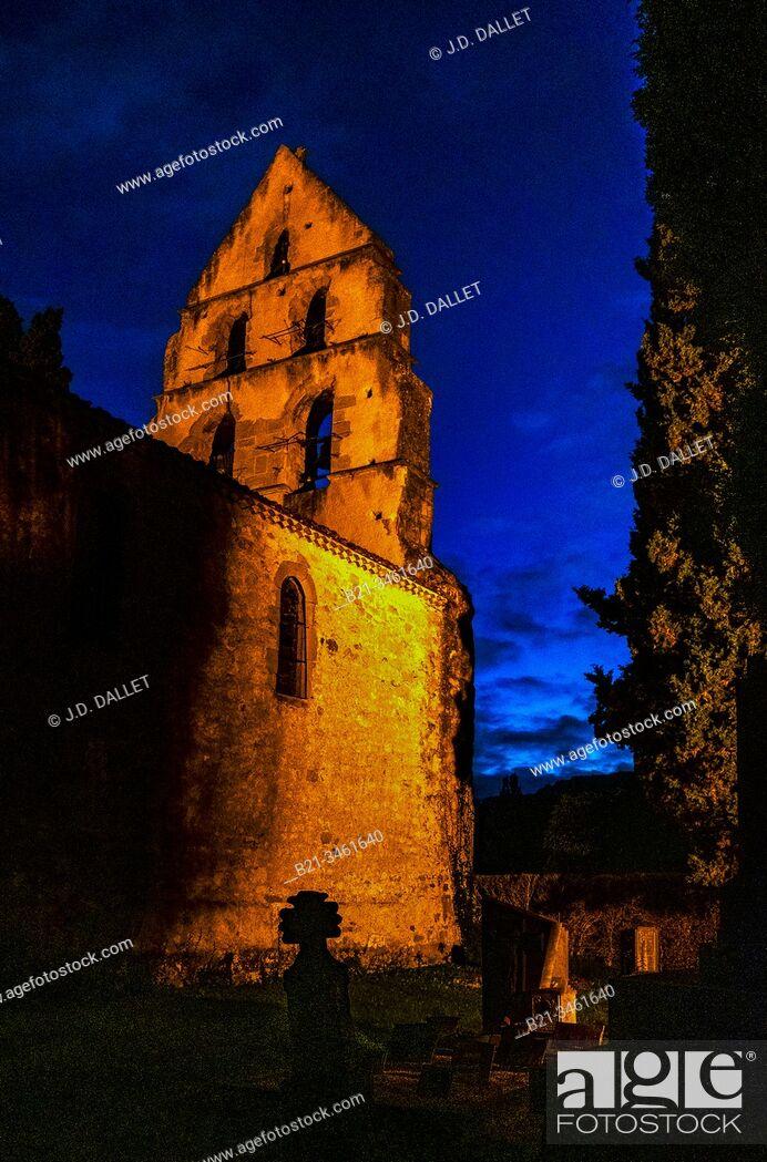 Stock Photo: France, Occitanie, Ariége, XIIc. Sainte Ane church at Sarabat.