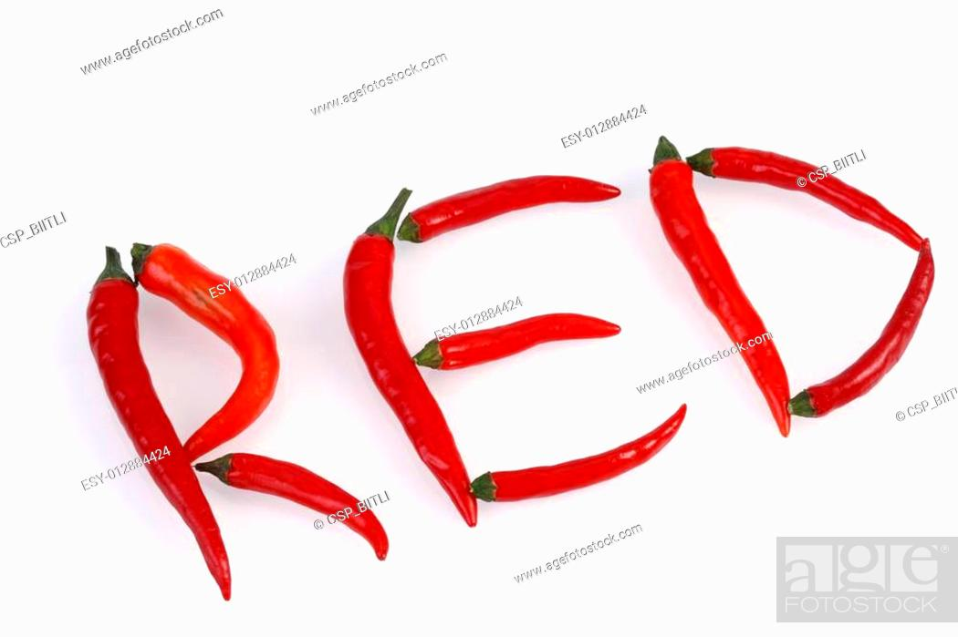 Stock Photo: red hot chilis.