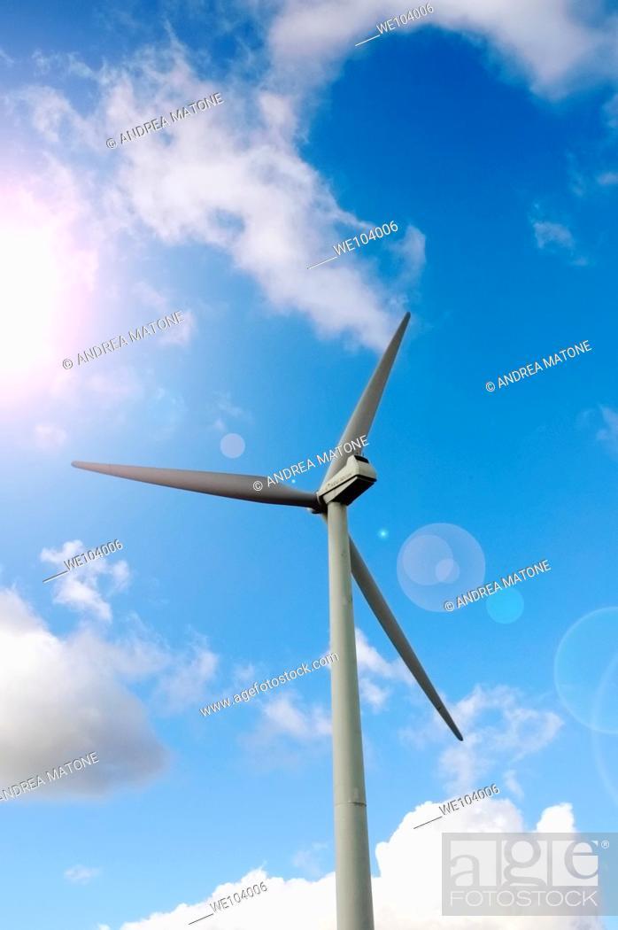 Stock Photo: A wind turbine Molise region Italy.